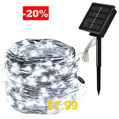 100LED #Solar #Copper #Wire #Light #Silver #Wire #String #Outdoor #Waterproof #Christmas #Day #Copper #Wire #Light