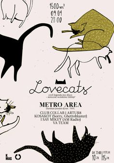 CLUBCOLLAB.COM »Blog Archive» Lovecats: Darshan jesrani (METRO AREA, NYC) #design #poster #cats