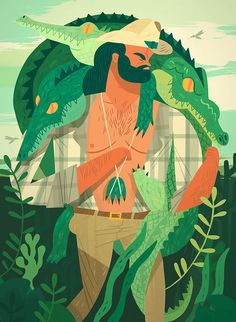 Folio illustration agency, London, UK | Owen Davey - Advertising ∙ Editorial ∙ Publishing ∙ Vector ∙ Character ∙ Mountains ∙ Tre