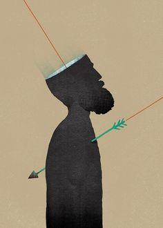 A-Z of Unusual Words #hamartia #print #design #graphic #unusual #illustration #swords