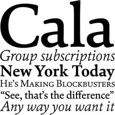 Cala | Typeface Review | Typographica #scala #typeface #typographica