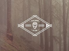 Calibre Club - Vision Over Sight by Jeremy Vessey on Dribbble. #badge #apparel #icon #geometric #vintage #logo #forest #native #typography