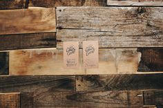 Calle Cuarta Card #logotype #business #branding #card #wood #identity #vintage