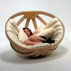 Cradle | Design Milk #comfort #design #cradle #wood #cocoon #object #want