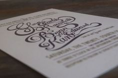 Gina & Bryan's Wedding Invites - Katie Steward's Portfolio #design #invitations #drawn #type #hand