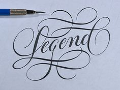 Legend Sketch by Ryan Hamrick #typography #pen