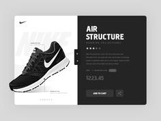 Product Page ui flat website material design sketch futuristic metro modern nike store ultra
