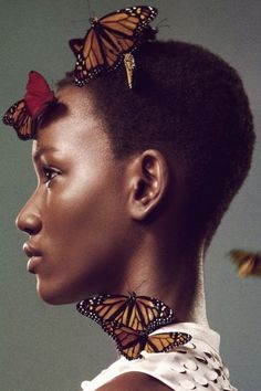 Shades of Blackness #butterfly #photography #woman #black