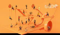 The Lane Agency Profile page #c4d #3d #orange