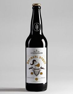 Underground Beer Club Bottle #beer #label #packaging