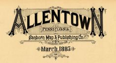 Incredible vintage typography from Sanborn Map Company #type