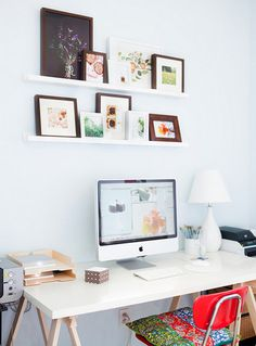office space by inspiringdecor #home office #work space #white