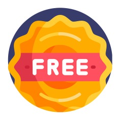 See more icon inspiration related to free, sticker, price, commerce and shopping, label, signaling, commerce, tag and signs on Flaticon.