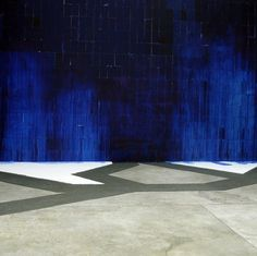 Latifa Echakhch's acknowledgement of past forms of political activities is respectful and passionate, but is inevitably shaken by the impl #latifa #blue #echakhch #art