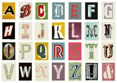 OMG Posters! » Archive » Alphabet Art Prints by Methane Studios! #screen #print #poster #typography