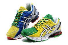 Mens Asics Gel Kinsei 4 Green Yellow Shoes #shoes