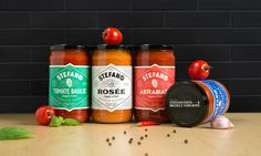 New Logo and Packaging for Stefano Sauces by lg2