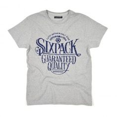 Sixpack France - Three And Half Blue #shirt #tees #graphic #typography