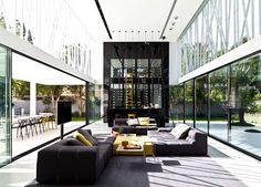 Party House Project by Pitsou Kedem Architects six meter tall wine cooler