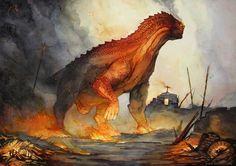Fire dragon by ~Vaejoun