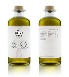 olive oil #packaging #bottle #label #typography