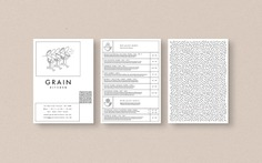 Grain Kitchen - Mindsparkle Mag Filip Pomykalo designed the Brand identity for Grain Kitchen, a small, independently-run casual restaurant in London with a focus on whole grains; their global-inspired menu comprises vibrant and healthful offerings, presented in the form of 'grain bowls'. #logo #packaging #identity #branding #design #color #photography #graphic #design #gallery #blog #project #mindsparkle #mag #beautiful #portfolio #designer