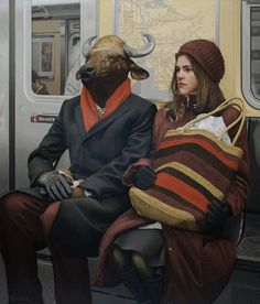 Realist Charcter Paintings by Matthew Grabelsky