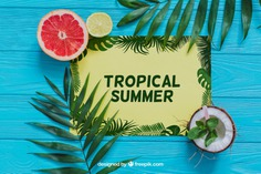Tropical summe composition Free Psd. See more inspiration related to Flower, Mockup, Floral, Party, Summer, Paper, Beach, Sun, Leaves, Fruits, Tropical, Holiday, Mock up, Coconut, Lemon, Palm, Decorative, Vacation, Wooden, Summer beach, Summer party, Aloha, Up, Beach party, Tropical flowers, Season, Hawaiian, Palm leaves, Grapefruit, Painted, Composition, Mock, Exotic, Summertime, Seasonal and Summe on Freepik.