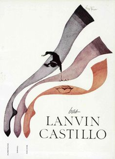 Flickr: Addie 50s ad: Lanvin Castillo stockings source : L'officiel magazine, n° 449-450, 1959 #layout #shape #form #color #stockings