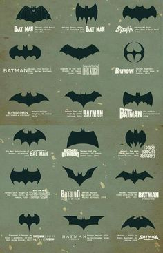 Batman logo evolution #logos #branding #process #icons #batman #evolution