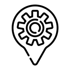 See more icon inspiration related to maps and location, map pointer, map point, map location, placeholder, navigation, setting, marker, pin, point, interface, signs, gear, cogwheel and location on Flaticon.