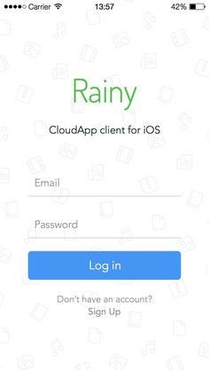 CloudApp login form #form #ui