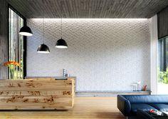 Organic Geometric Concrete Tile by KAZA Concrete concrete tile collection interior
