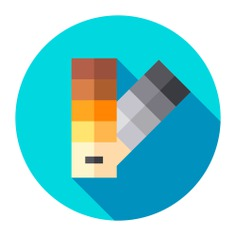 See more icon inspiration related to paint, art and design, pantone, paints, edit tools, miscellaneous, color palette, painter, palette, color and colors on Flaticon.