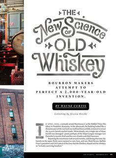 The New Science of Old Whiskey #inspiration #lettering #typography