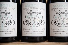 Jessica Hische Mahonia Vineyard #typography #packaging #wine #jessica hische