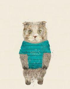 hugs the kitty by Bri.buckley