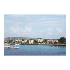 Bonaire Kralendijk Harbor Sailing Boats Canvas Print