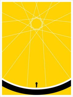 Biker by Jason Munn (SOLD OUT) #illustration #poster #yellow #biker