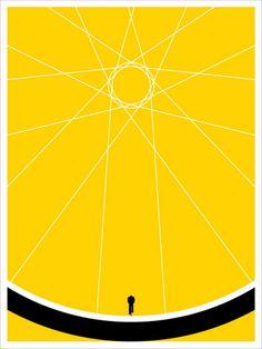 Biker by Jason Munn (SOLD OUT) #illustration #yellow #biker #poster