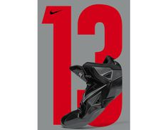 Nike – Lebron 13 #advertising #type #poster