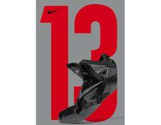Nike – Lebron 13 #advertising #type #poster