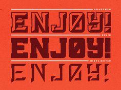 Drib #enjoy #typography