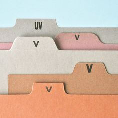 FFFFOUND! #cardboard #pink #beige #cardstock #orange #organize #letter #folder