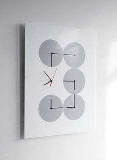 6 at 6 clock by Human Since 1982 for Victor Hunt #clock #white