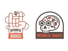 Dribbble - Botanical Badass by Chris Streger #botanical #chris #design #streger #logo #badass