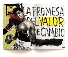 Jean Michel Basquiat | La joyita del mercado del arte on Behance #basquiat #punch #yellow # boxing #type