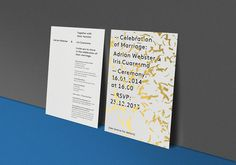 Wedding invitation #invitation #gold #type #graphic design #wedding invitation