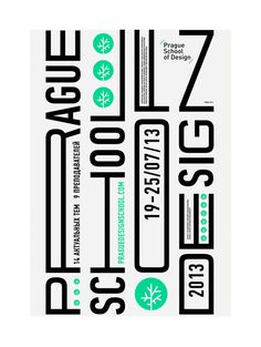 Prague School of Design/ summer kulachek #typography