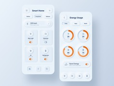 SKEUOMORPH SMART HOME APPLICATION BY ARUN PP